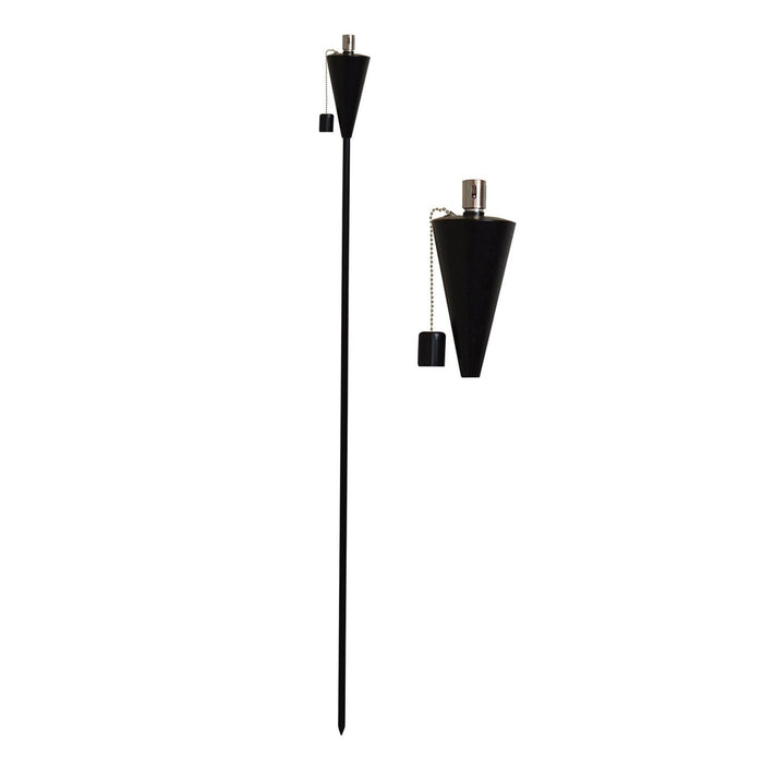 Harbour Housewares Outdoor Fire Torches - Black - Triangle Design