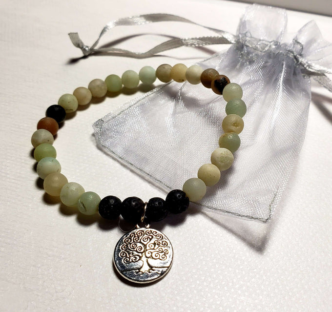 Amazonite Essential Oil Diffuser Bracelet - More Natural Healing