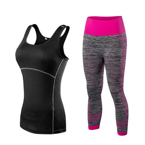 Women Girls Sportswear Sleeveless with Matching Pant - Neon Green - More Natural Healing