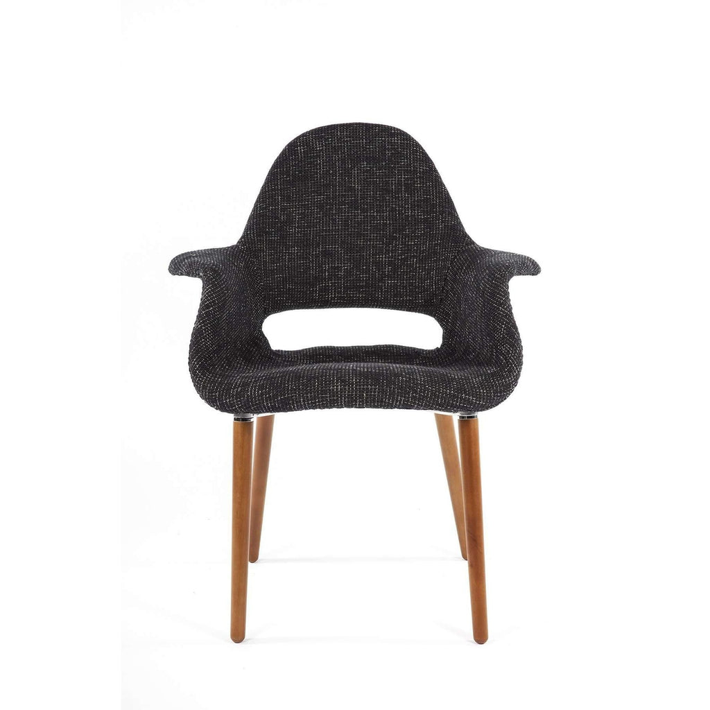 Mid Century Organic Chair - Black Twill *Free local shipping only*