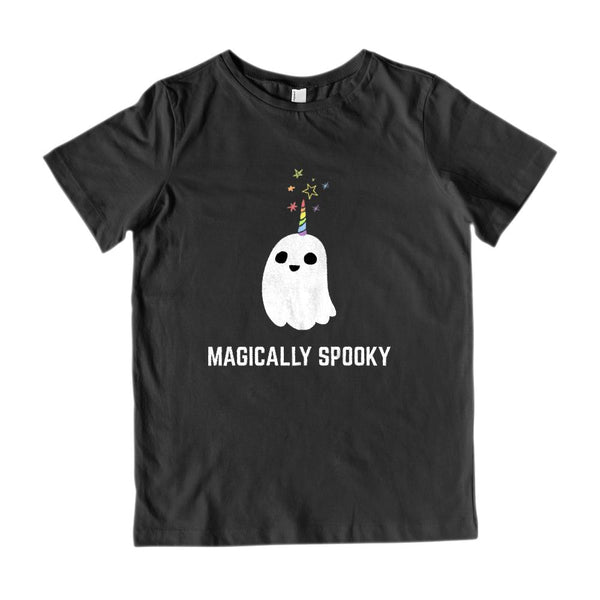 (Kid's Gildan Cotton Tee) Magically Spooky Ghost Halloween Graphic T-Shirt Tee BOXELS