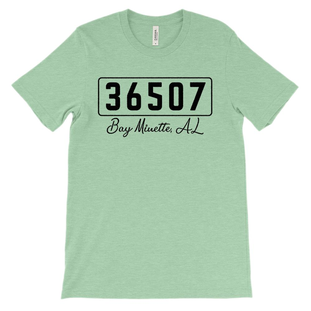 (Soft Unisex BC 3001) Custom Zipcode (36507, Bay Minette, AL) Graphic T-Shirt Tee BOXELS