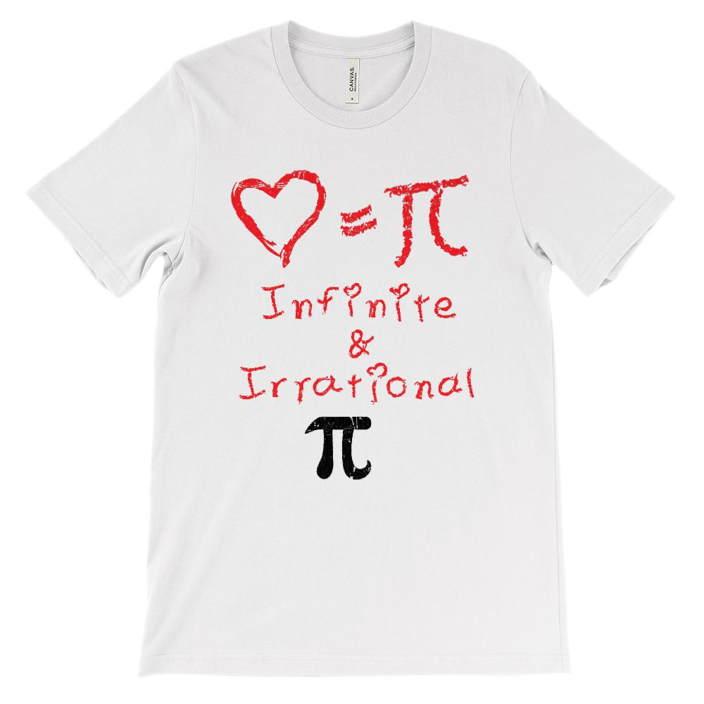 (Soft Unisex BC 3001 - Light Colors) Love Equals Pi Infinite & Irrational Love