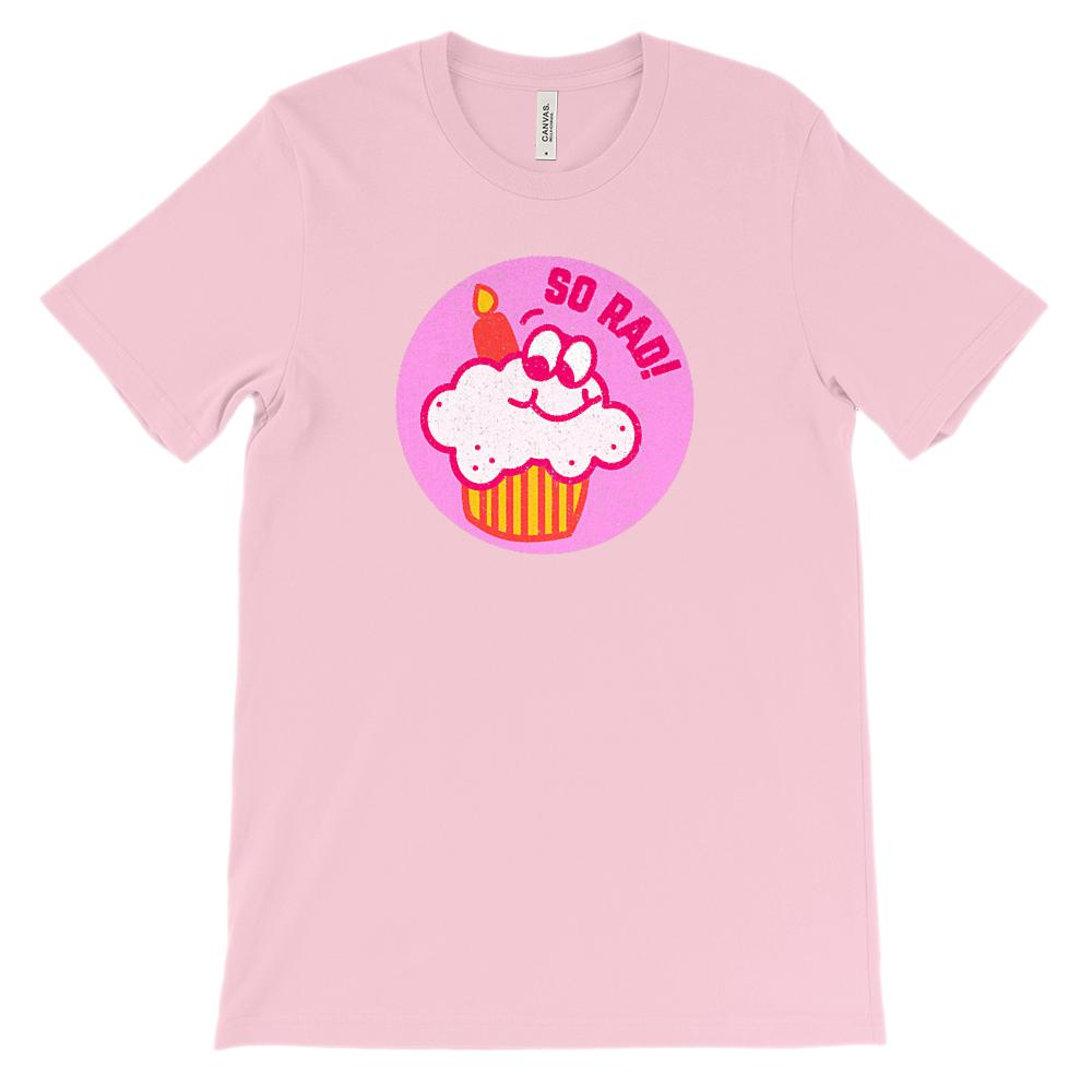 (Soft Unisex BC 3001) Rad 80s Cupcake Vintage Scratch and Sniff Graphic T-Shirt Tee BOXELS