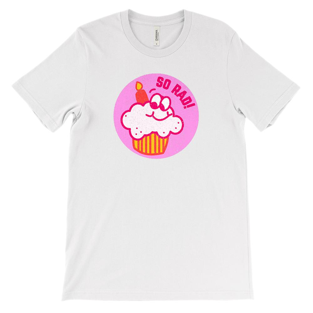 (Soft Unisex BC 3001) Rad 80s Cupcake Vintage Scratch and Sniff