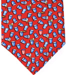 Red Beer Pong Tie