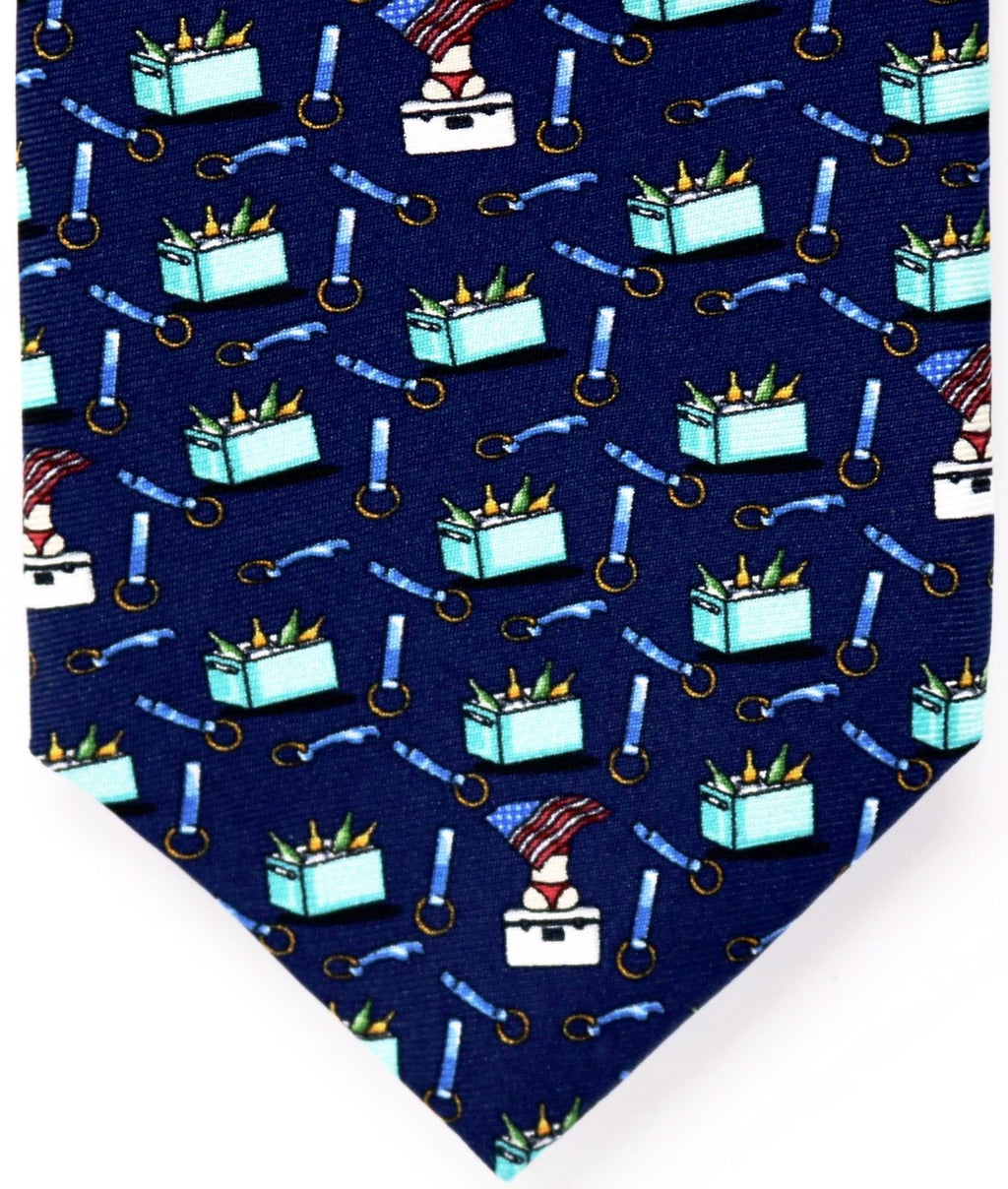 Navy Beer Cooler Tie