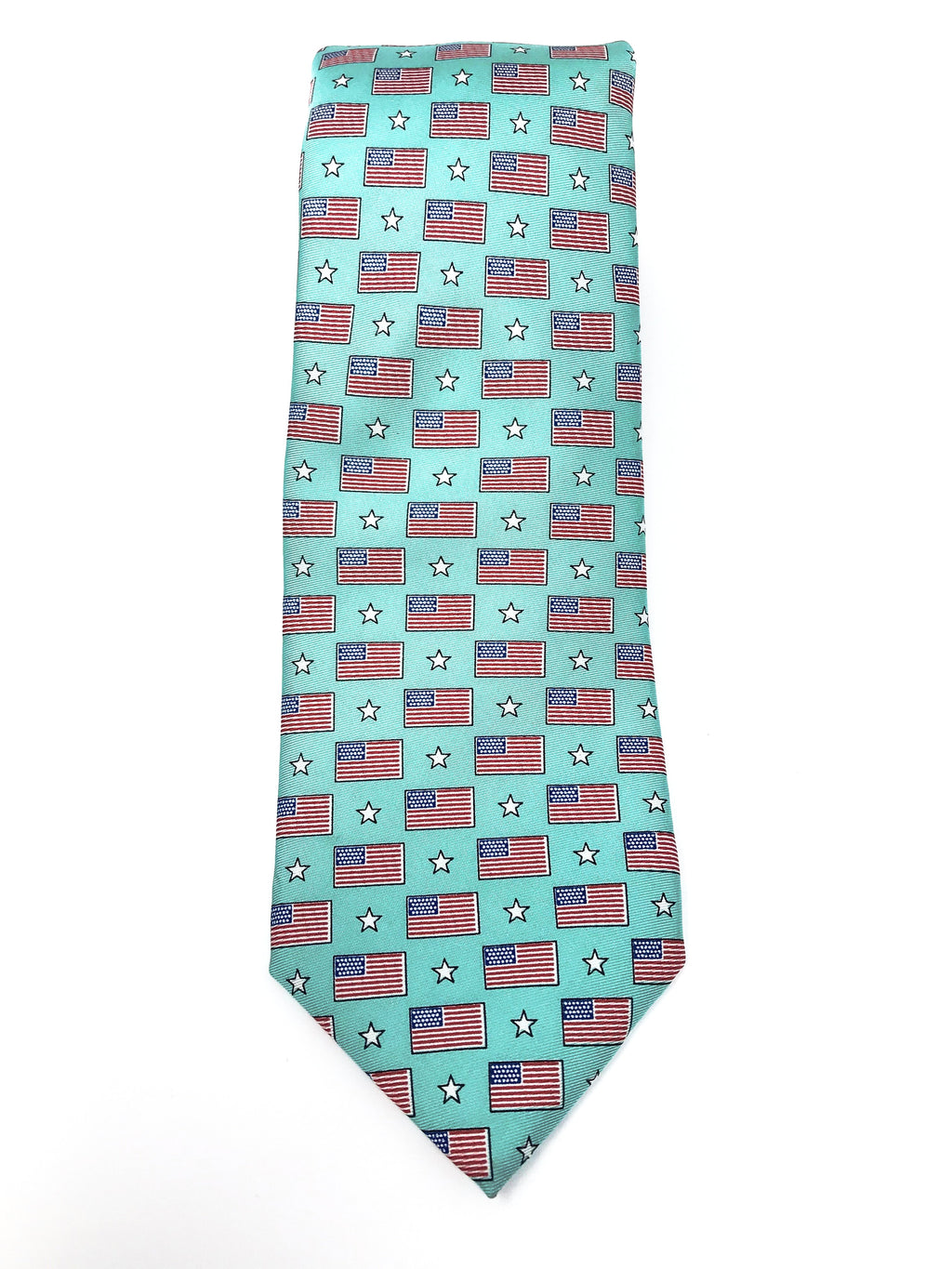 Mint Green Old Glory Tie