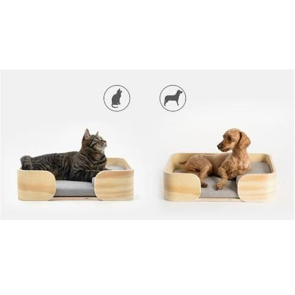 Wooden Pet Bed - Rectangle