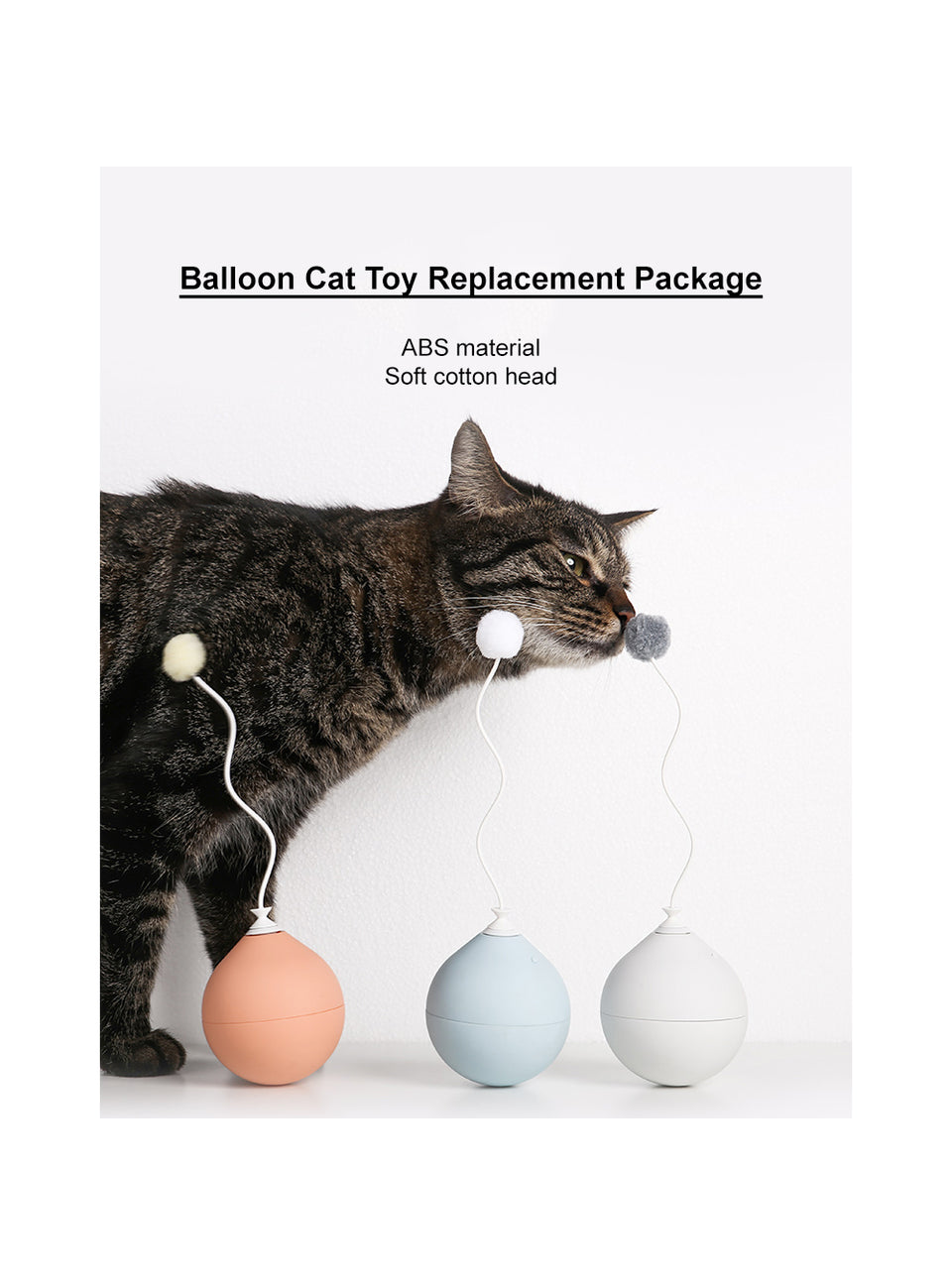 Balloon Cat Toy Accessory Replacement Package