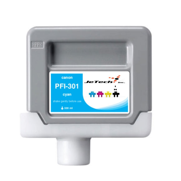 Canon PFI-301 330ml Ink Cartridge Cyan