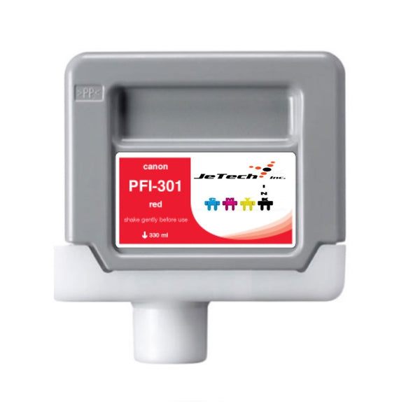 Canon PFI-301 330ml Ink Cartridge Red