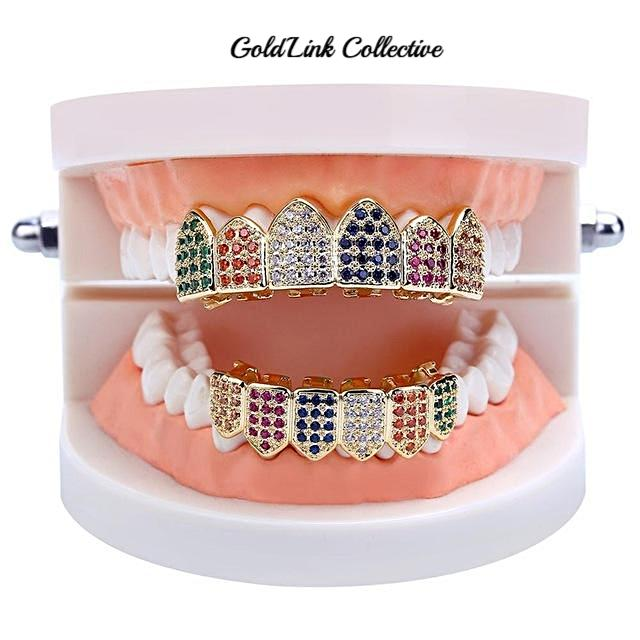 Lil Yachty Rainbow Micropave Grill Set