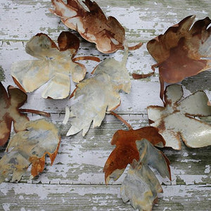 Rusty Patina Metal Leaf
