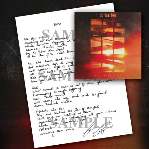 Signed Hand Written Lyric Sheet Bundle