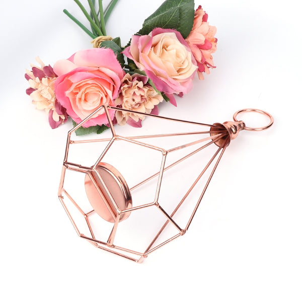 2 Piece Rose Gold Candle Holder