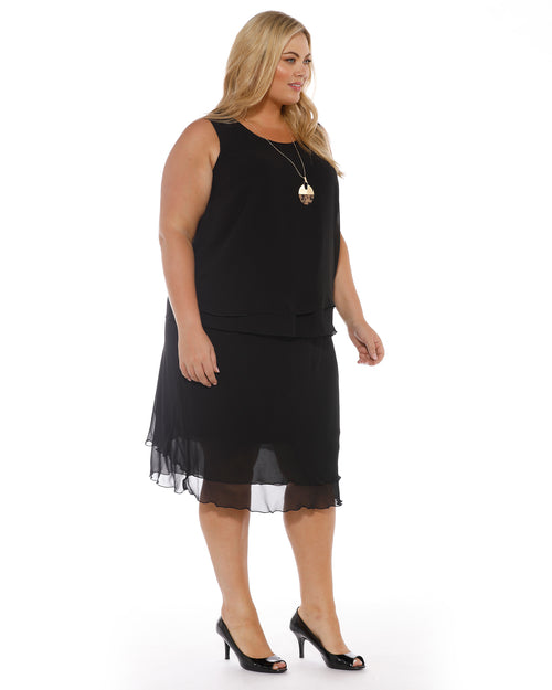 black skirt, room to move, plus size clothing