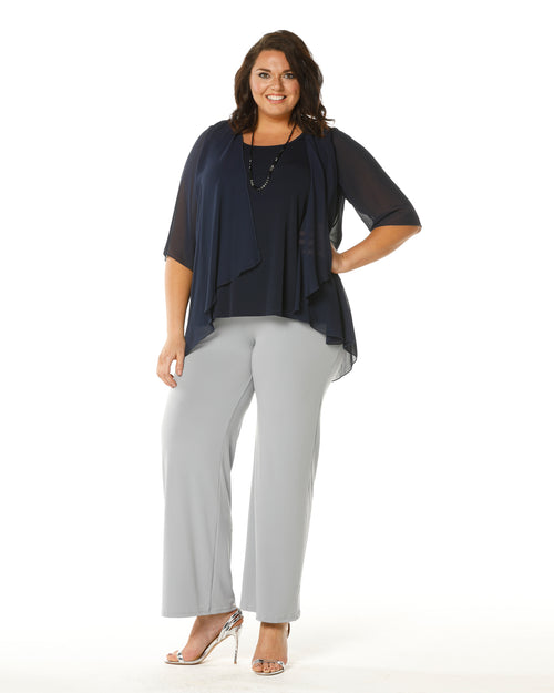 Linda 2 In 1 Tunic - Navy- Last Size 26