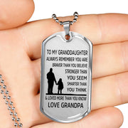 From Grandpa to Granddaughter - Stainless Steel Necklace