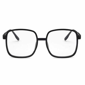 Ferosh Solid Black Curved Square Glasses