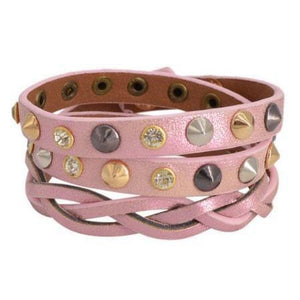 Ferosh Bracelets Rosy leather wrap