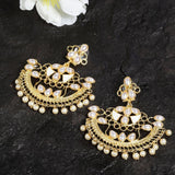 Ferosh Earrings Kundan Gold Ethnic Earrings