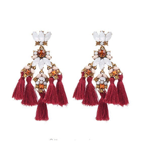 Ferosh Earrings Red Thrill Chandeliers