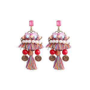 Ferosh Earrings Thread Statement Danglers