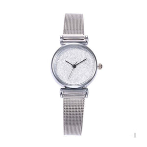 Ferosh Watches Shimmery Silver Watch