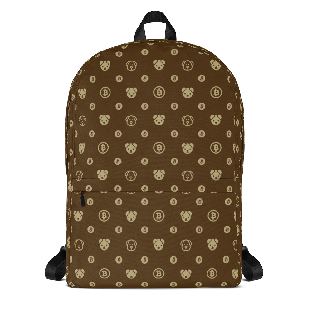 Backpack - Brown & Gold