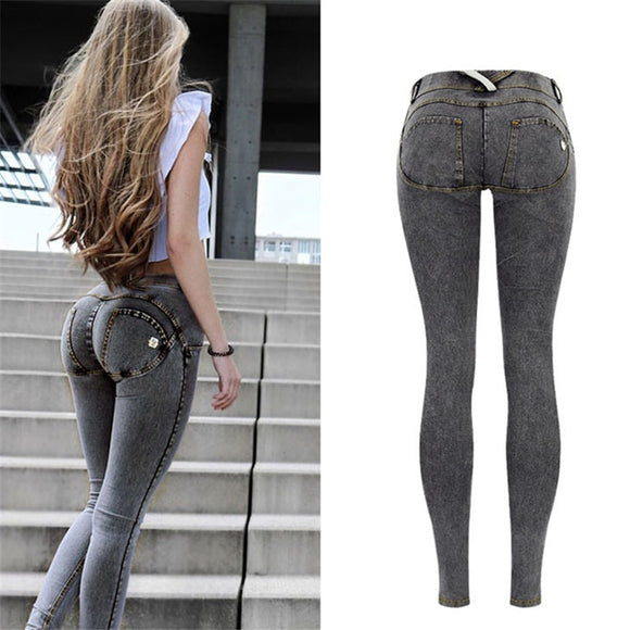 Low-Waist Denim Skinny Jeans