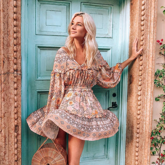 Gypsy Floral-Print Summer Dress