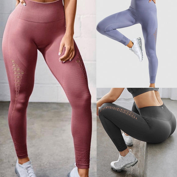 Summer Full-Length Solid Color Exercise Leggings