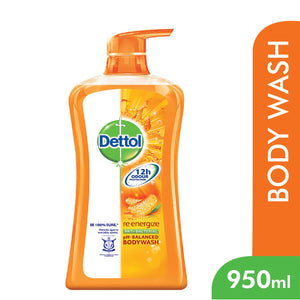 Dettol Anti-Bacterial Shower Gel Re-Energize 950 ml