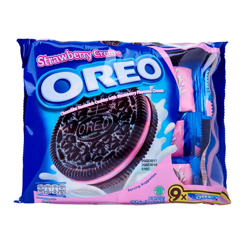 Oreo Chocolate Sandwich Cookies With Strawberry Creme (Multipack) 9 x 29.4 g