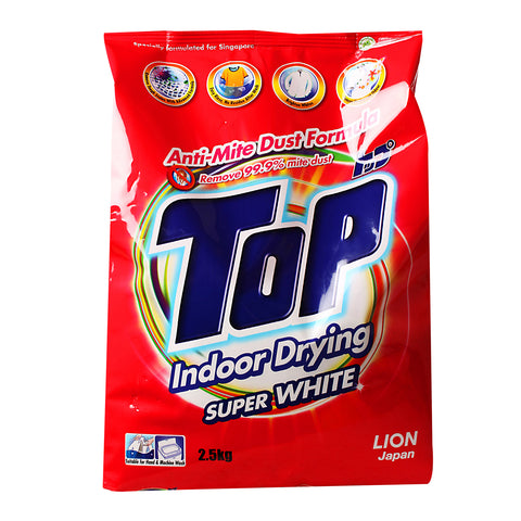 Top Super White Powder Detergent 2.5kg