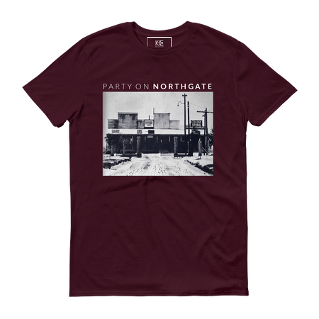 Party on Northgate t-shirt from the KIE Kollection