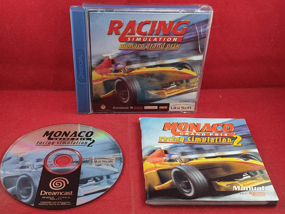 Racing Simulation Monaco Grand Prix Sega Dreamcast Game