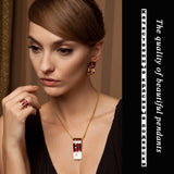 Red Elegant Classic Enamel Dubai Gold Jewelry Sets - Love Touch Jewelry