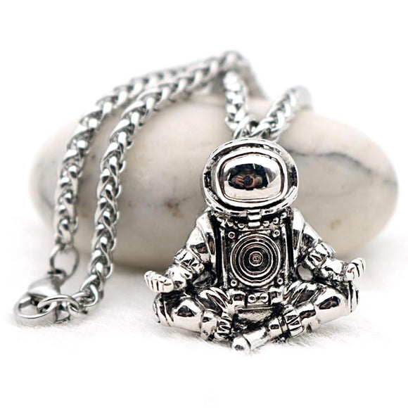 Galaxy Universe Spaceman Astronaut Pendant - Love Touch Jewelry