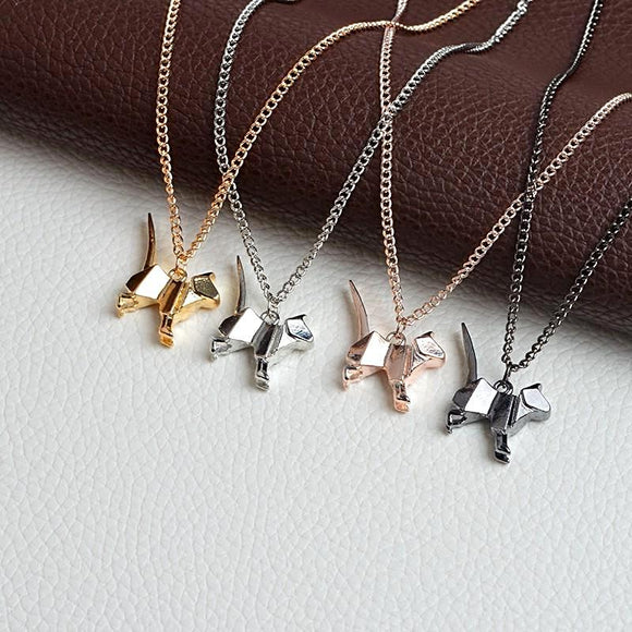 Origami Cat Pendant Necklace - Love Touch Jewelry