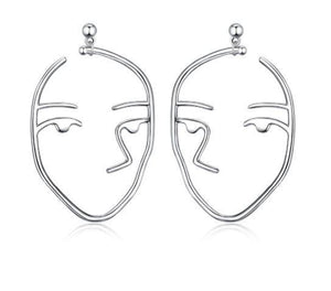 Unique Face Shaped Stud Earrings (AAAA Genuine 925 Sterling Silver) - Love Touch Jewelry