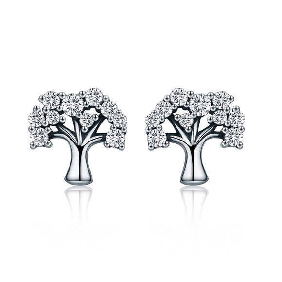 Tree of Life Stud Earrings (Genuine 925 Sterling Silver) - Love Touch Jewelry