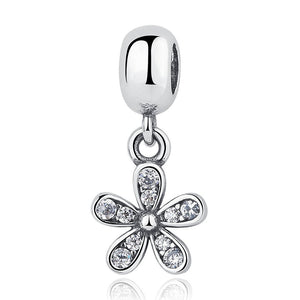 Dazzling Daisy Pendant Charm (Genuine 925 Sterling Silver) - Love Touch Jewelry
