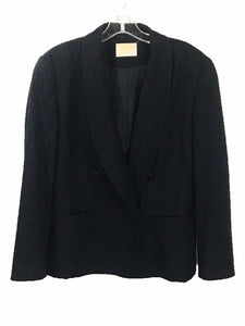 Pendleton Vintage Blazer Black Wool Suit Jacket Made USA Shoulder Pads Womens 8 - FunkyCrap Boutique