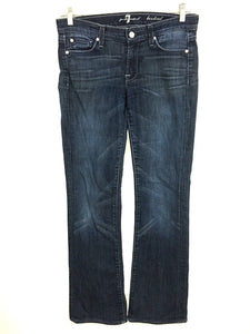 7 For All Mankind Boot Cut Blue Indigo Jeans Womens Size 27 Actual 31x32 - Preowned - FunkyCrap Boutique