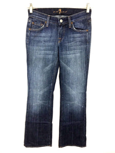 7 For All Mankind Boot Cut Dark Wash Low Rise Women's 24 Actual 26 x 31.5 - Preowned - FunkyCrap Boutique