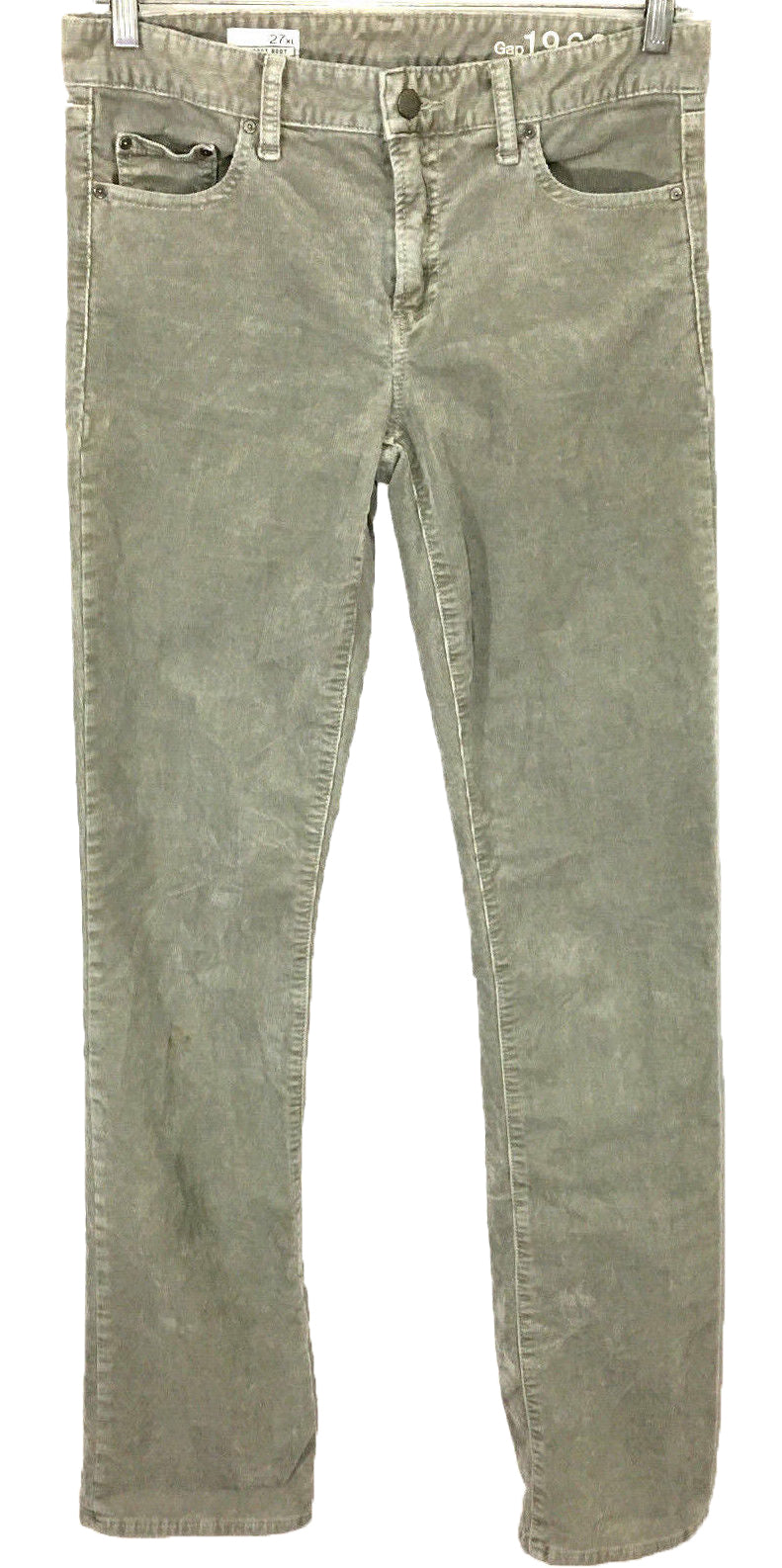 Gap Perfect Boot 1969 Corduroy Jeans Lt Gravel Gray Pants Womens 27 XL 30 x 34.5 - Preowned - FunkyCrap Boutique