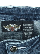 Harley Davidson Motorcycles 99066-08VW Sporty Blue Jeans Patch Logo Womens 6 - Preowned - FunkyCrap Boutique