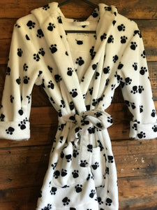 Kids Dressing Gown Paw Prints